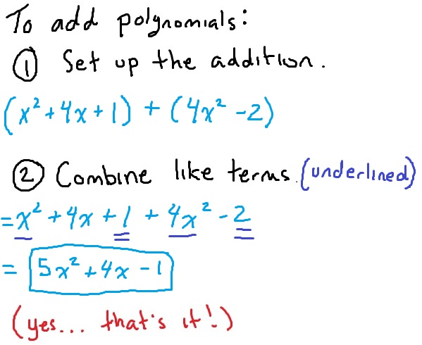 how-to-add-polynomials