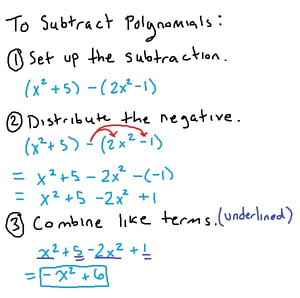 how-to-subtract-polynomials