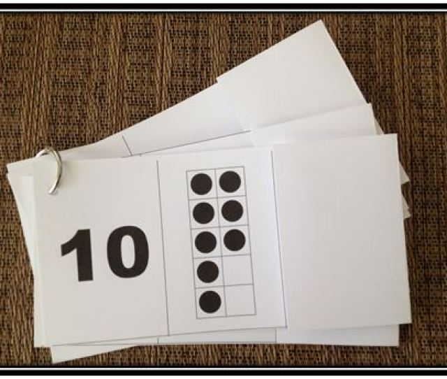 This Is Part Of The Missing Part Flashcard Set I Used A Ten Frame For The Combinations For Ten Instead Of The Random Dot Patterns