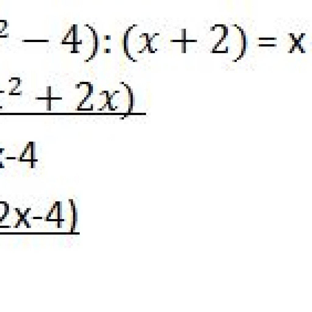Procedure Of Dividing Polynomials