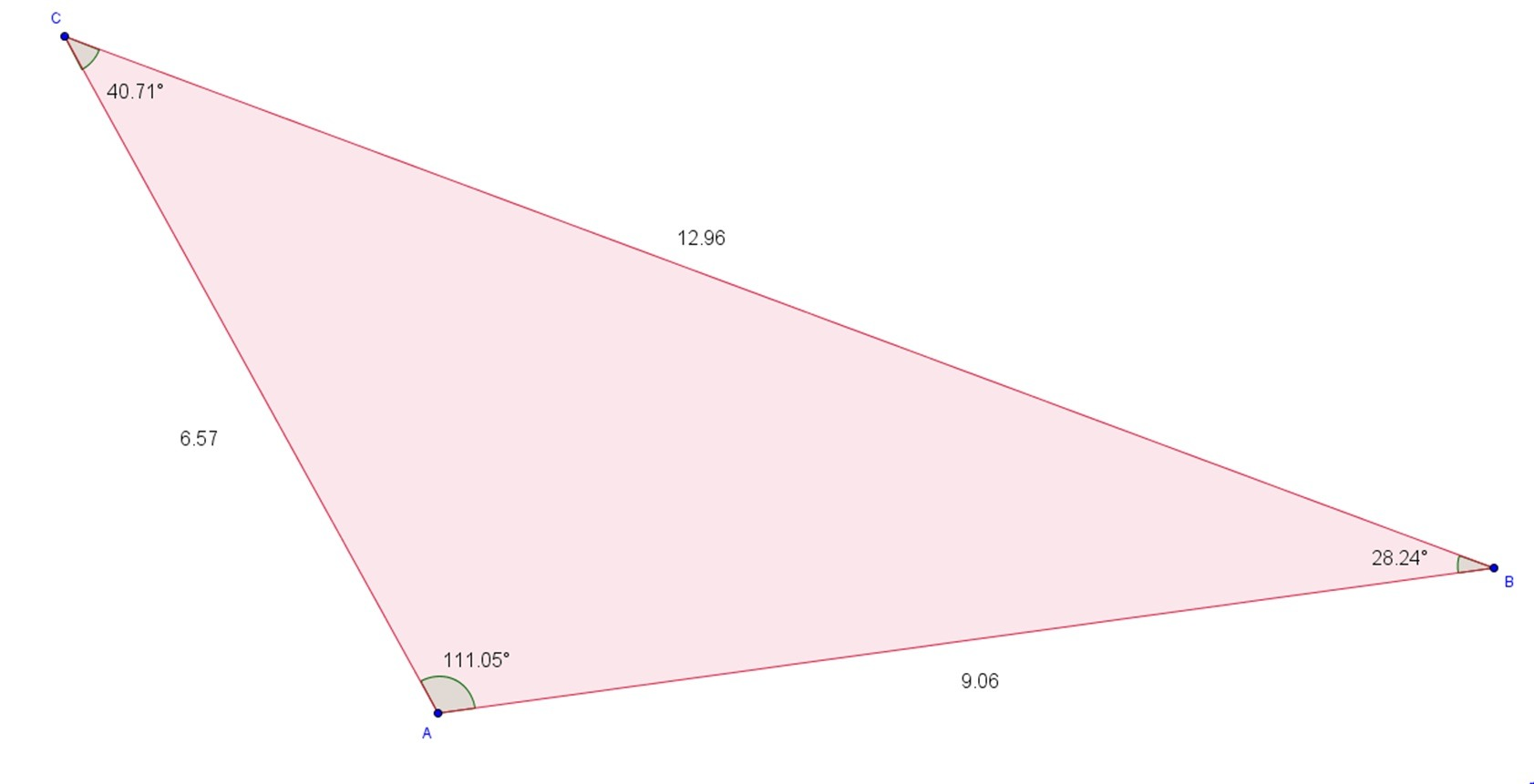 Random Triangle With Measured Sizes And Angles