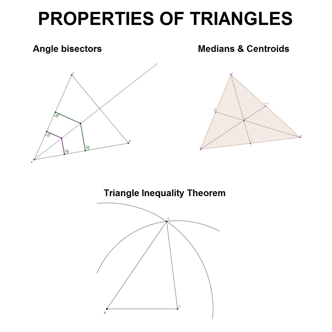Construct Angle Bisectors And Medians