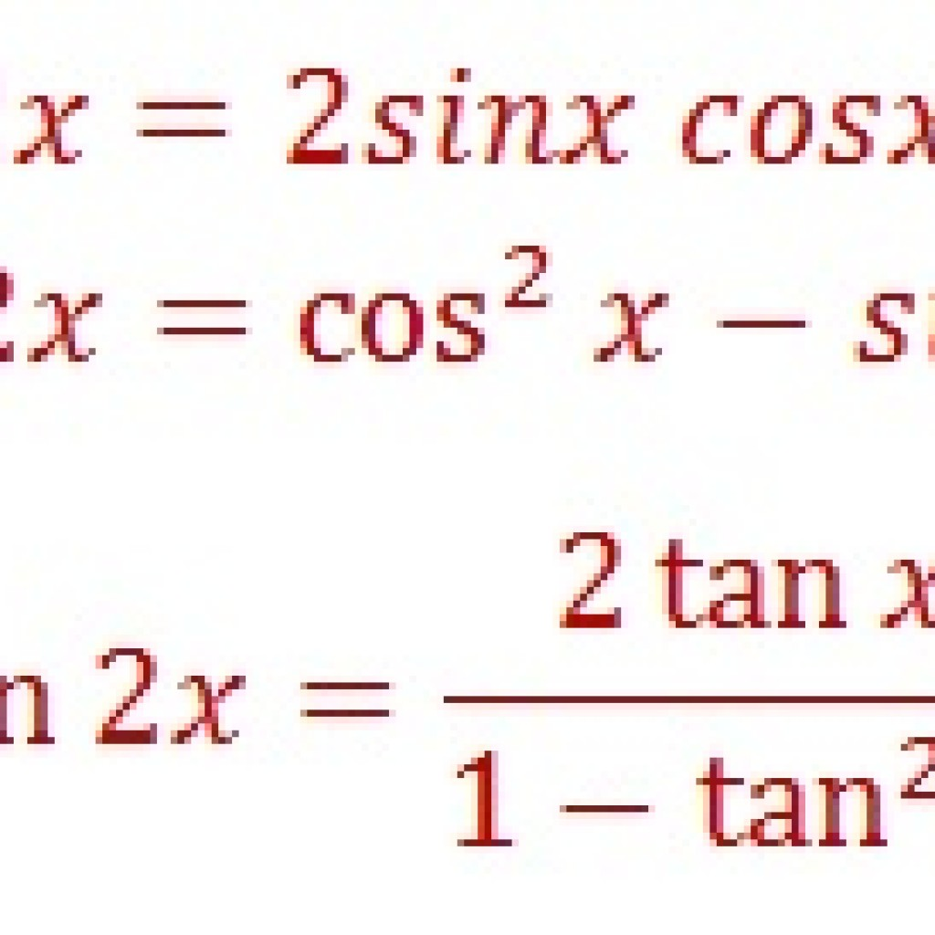 Double Angle Identities Formulas