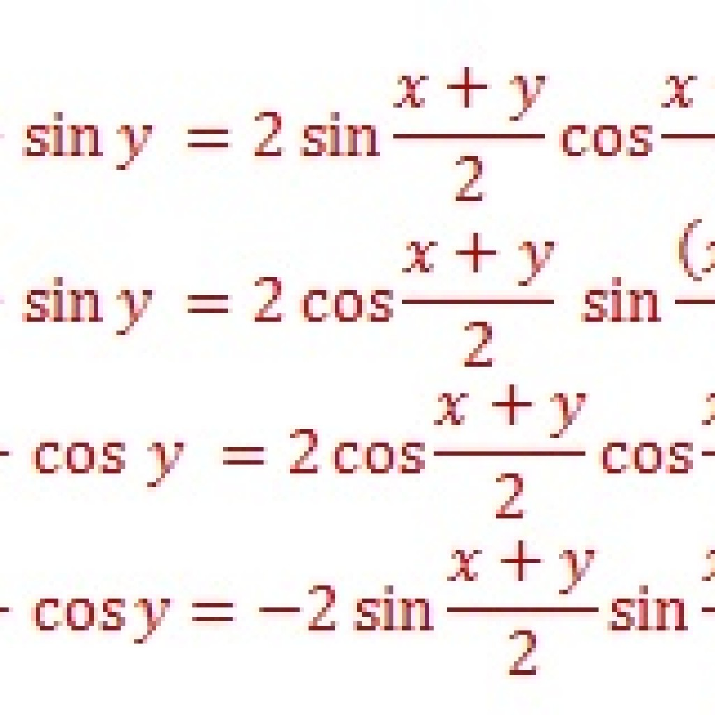 Sum Identities Trigonometry Formula