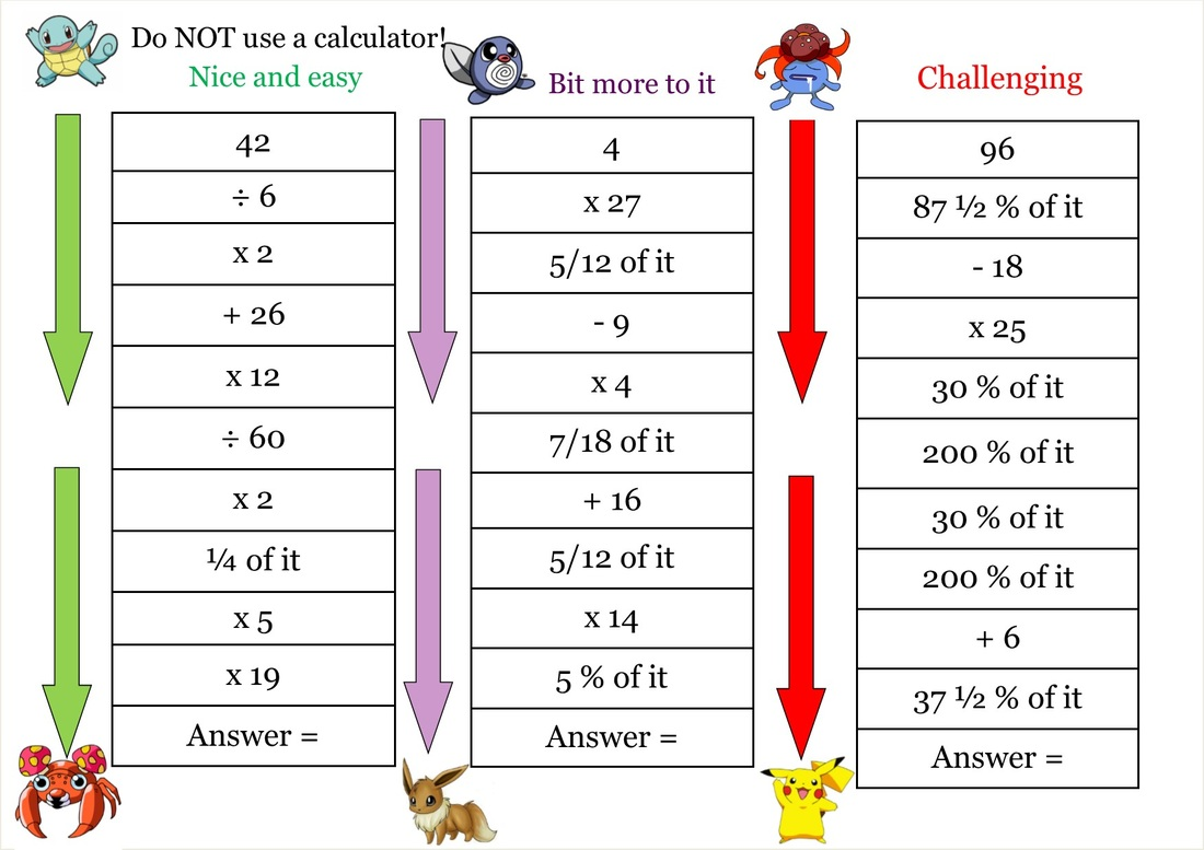 Times Table Starter Activities Ks2