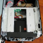 Top internal view of the NAS after removing the HDD