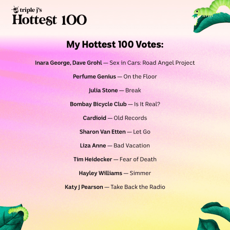 Matt's votes for the 2020 Hottest 100