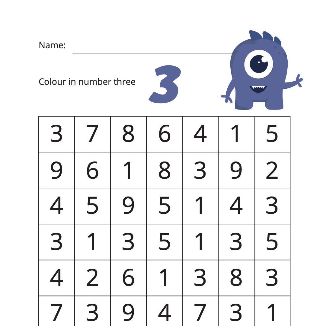 Worksheets To Help You Learn Numbers