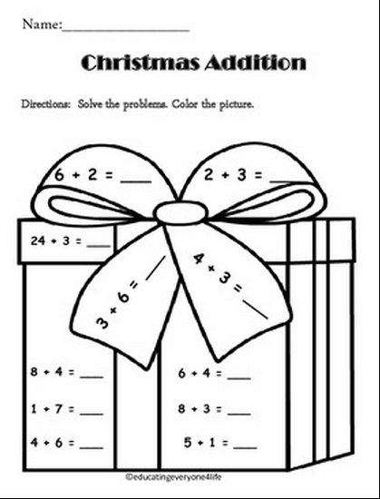 Worksheets 1st Grade Christmas Math Coloring Worksheets first grade math coloring pages www osmins org photosykq addition 6 worksheets place value