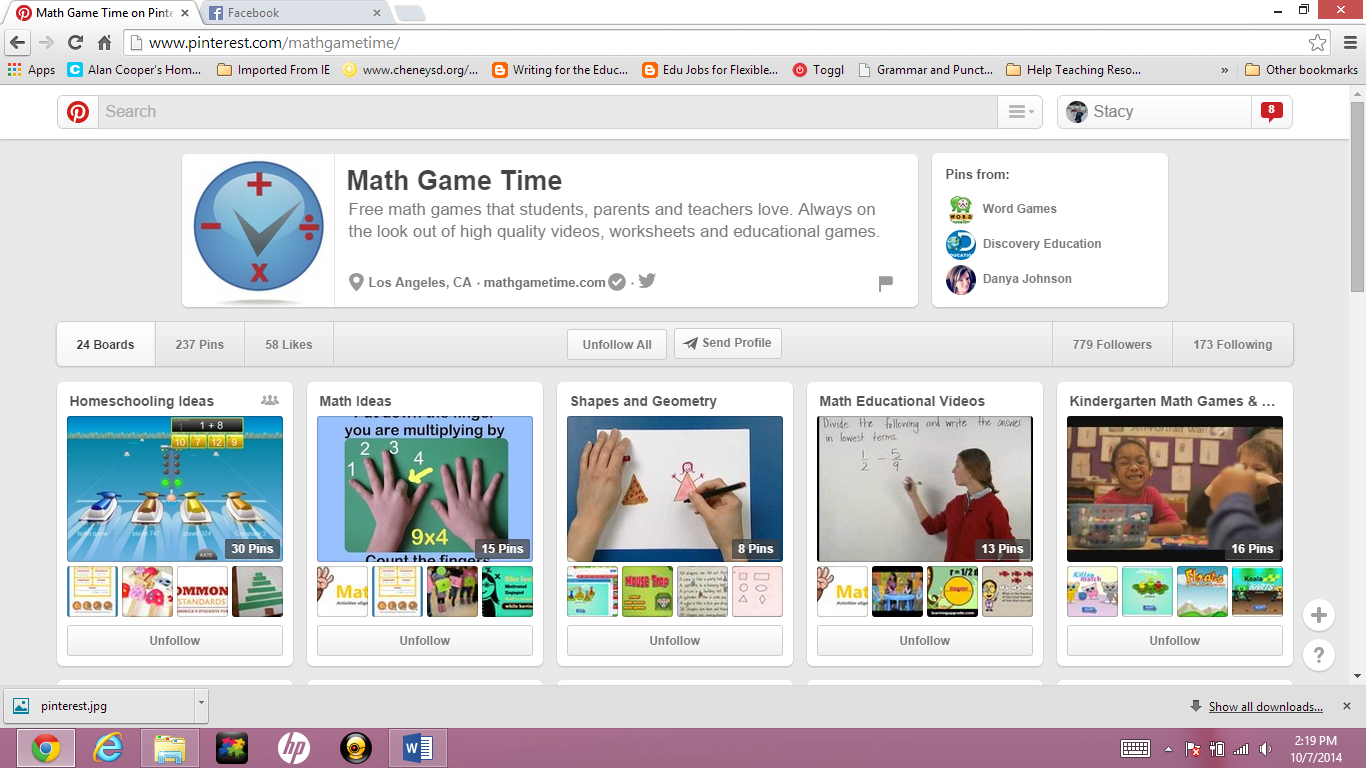 20 Math Boards Amp Pinners To Follow