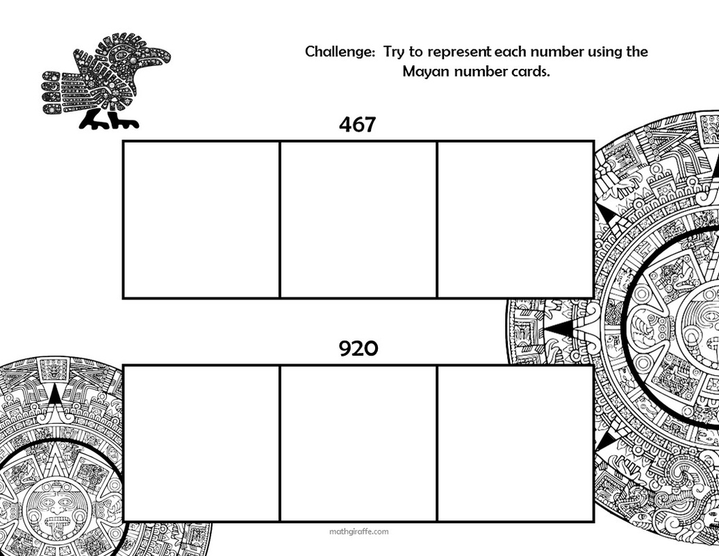 Mayan Math Worksheet