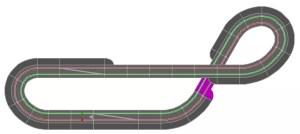 Carrera Bahn ausgeglichene Strecke 1 3x1.6m