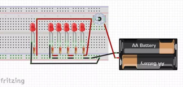 Fahrradbeleuchtung auf LED umrüsten - Schaltung