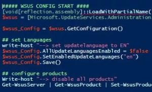 WSUS per Powershell konfigurieren
