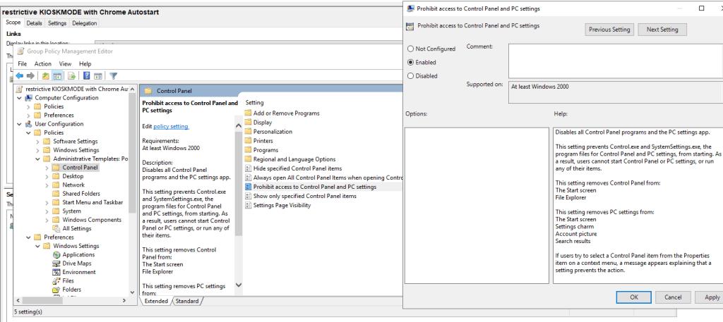 Gpo Kioskmode Restriktiv Chrome 3