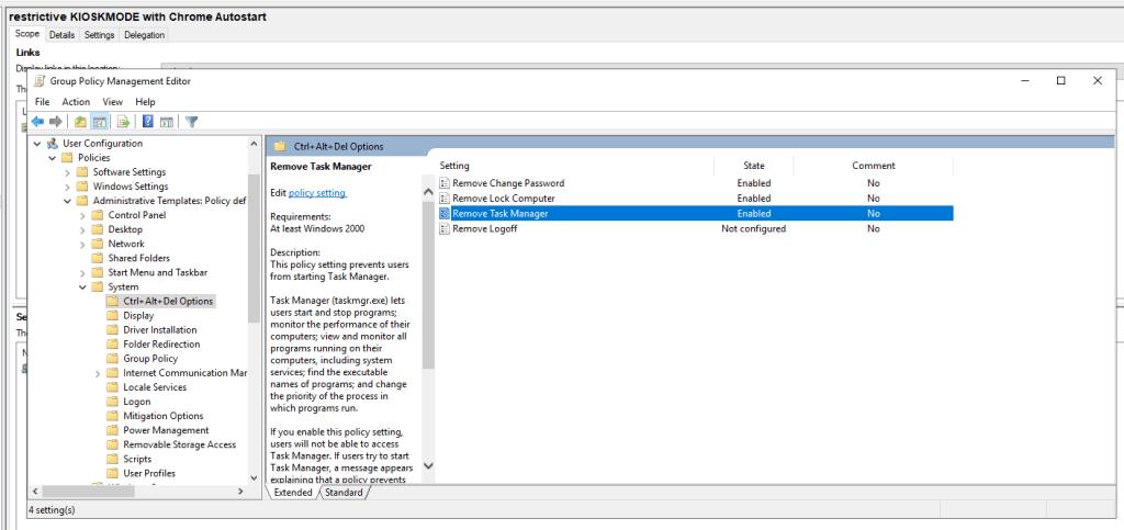Gpo Kioskmode Restriktiv Chrome 4