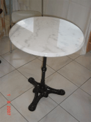 table bistrot en marbre diametre 60 cm