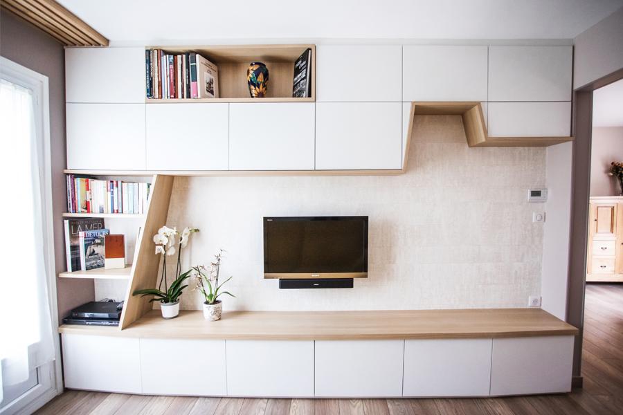 meuble tv sur mesure sur mesure tv tasseau bois
