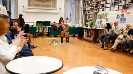 Mathilde suona all'Open Days di agraria a Perugia