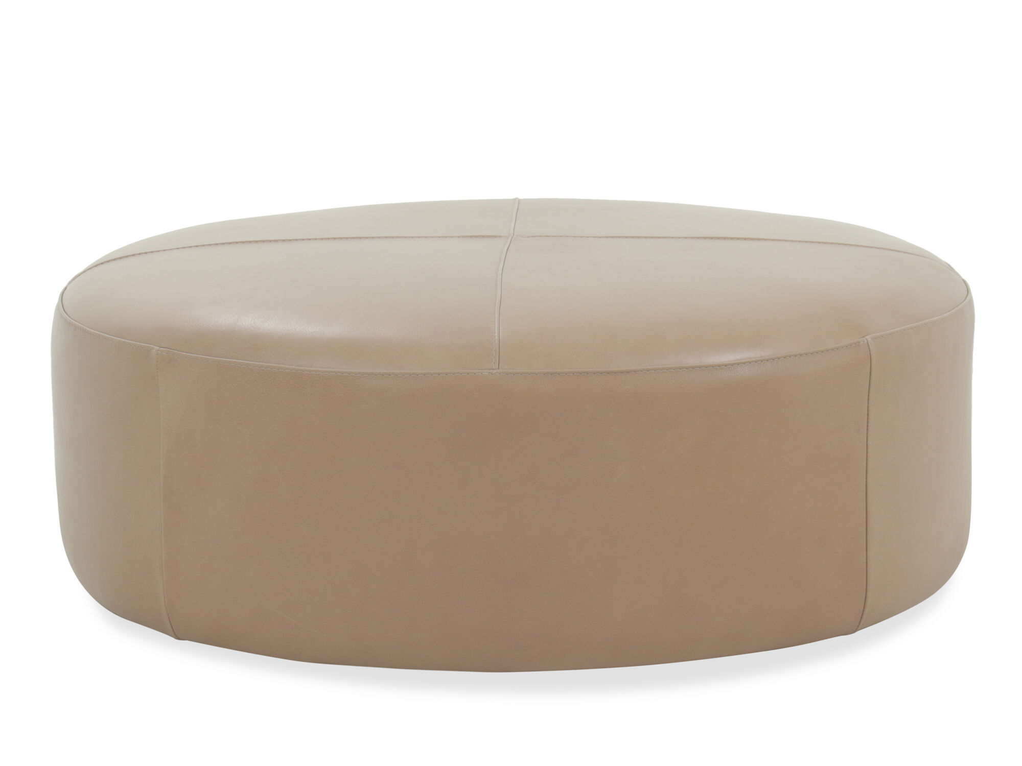 casual 42 leather round ottoman in
