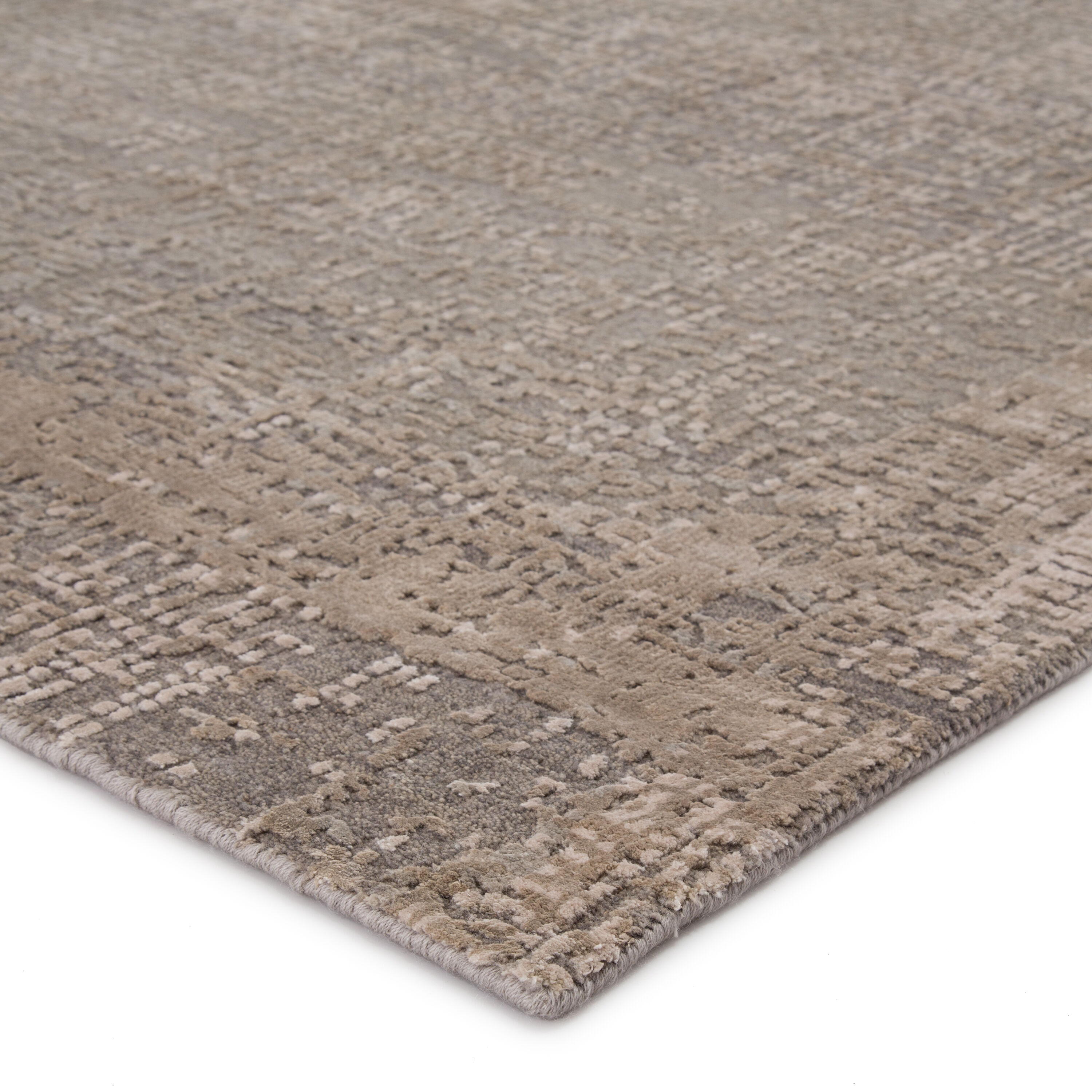 kavi by hava hand knotted abstract gray