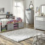 Arcella Gray 5 Pc Dresser Mirror Full Bookcase Bed Mathis Brothers Furniture