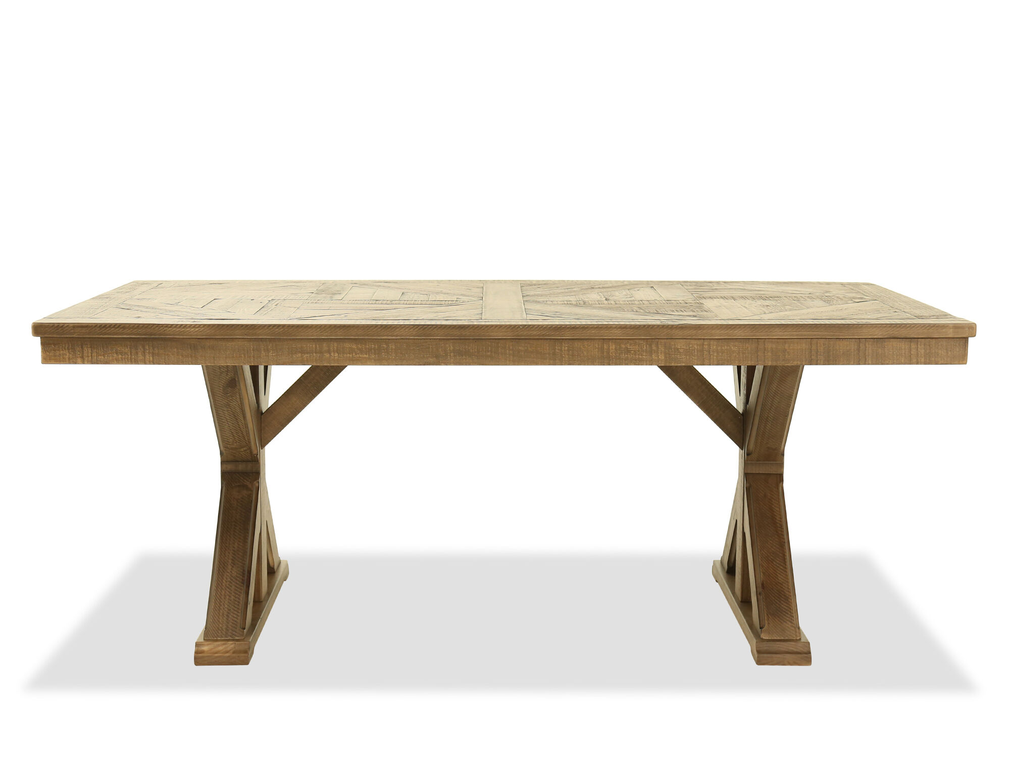 Rectangular Casual 76 Dining Table In Light Brown