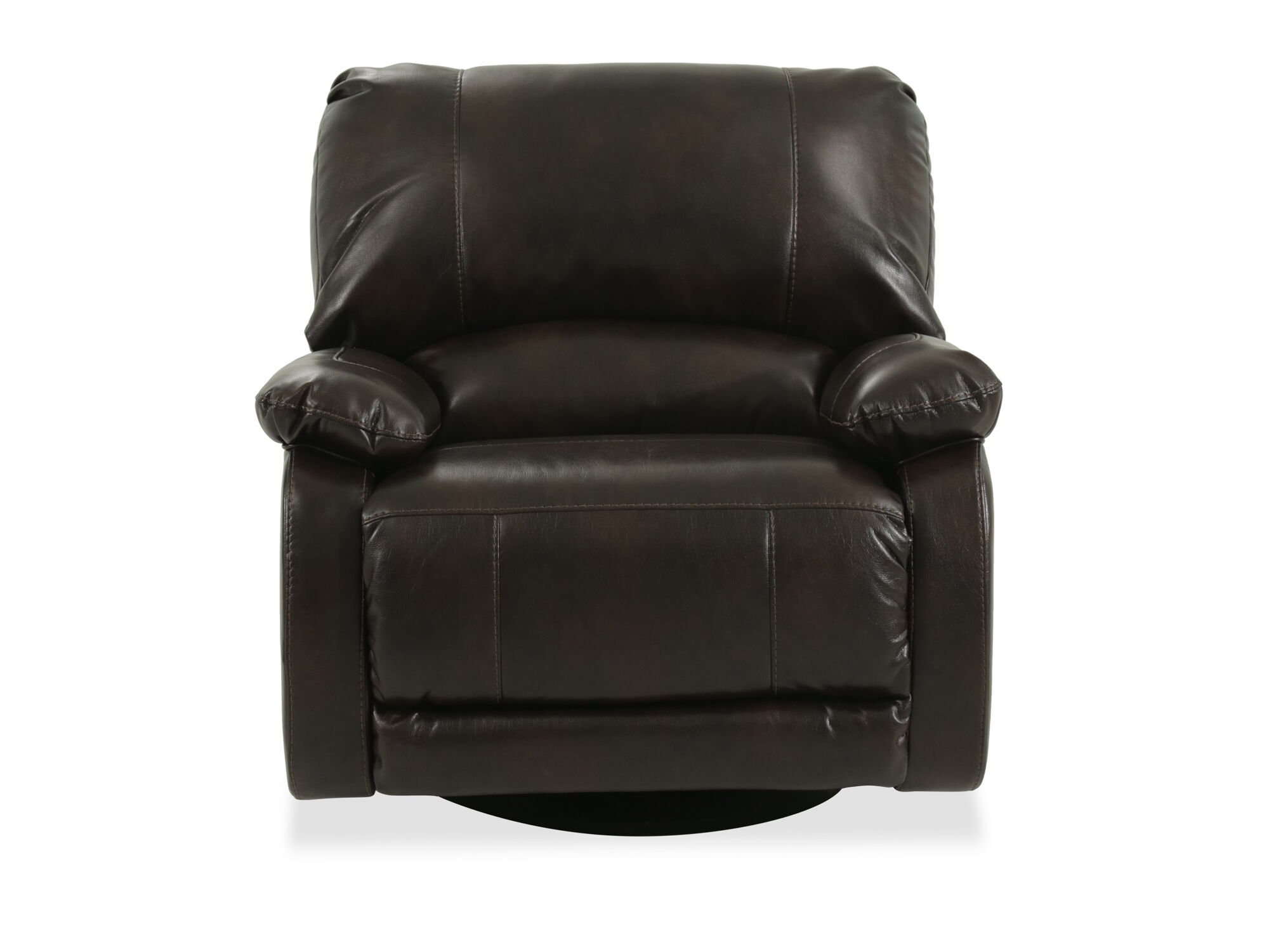 Contemporary 41 Swivel Recliner In Brown Mathis Brothers Furniture