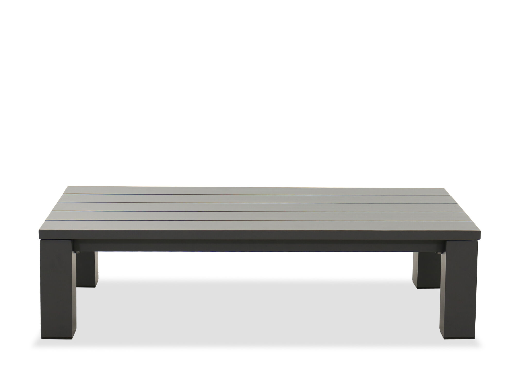 aluminum patio coffee table in gray