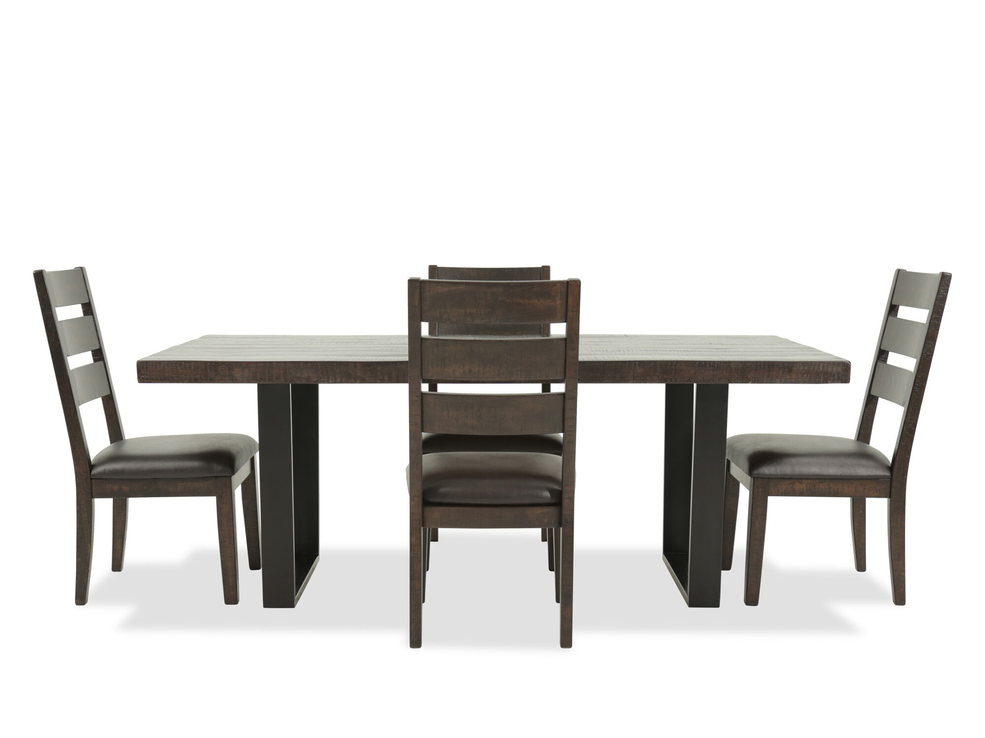 Five Piece Mid Century Modern 78 Dining Set In Dark Brown Mathis Brothers Furniture