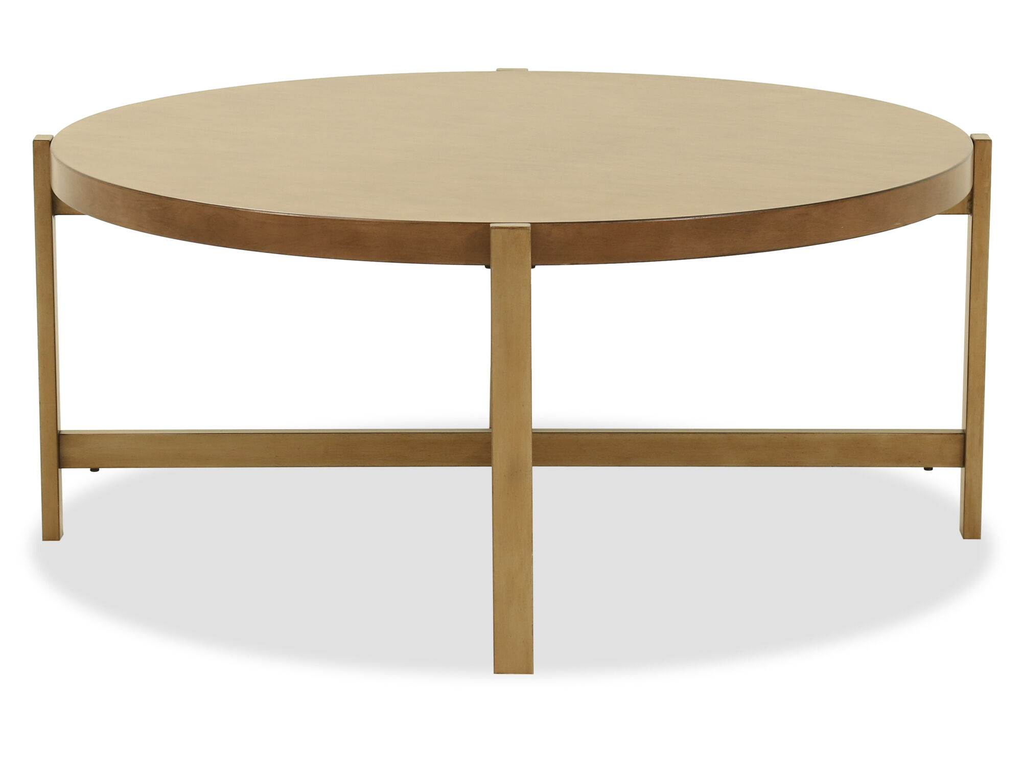 Modern Round Cocktail Table In Light Brown Mathis