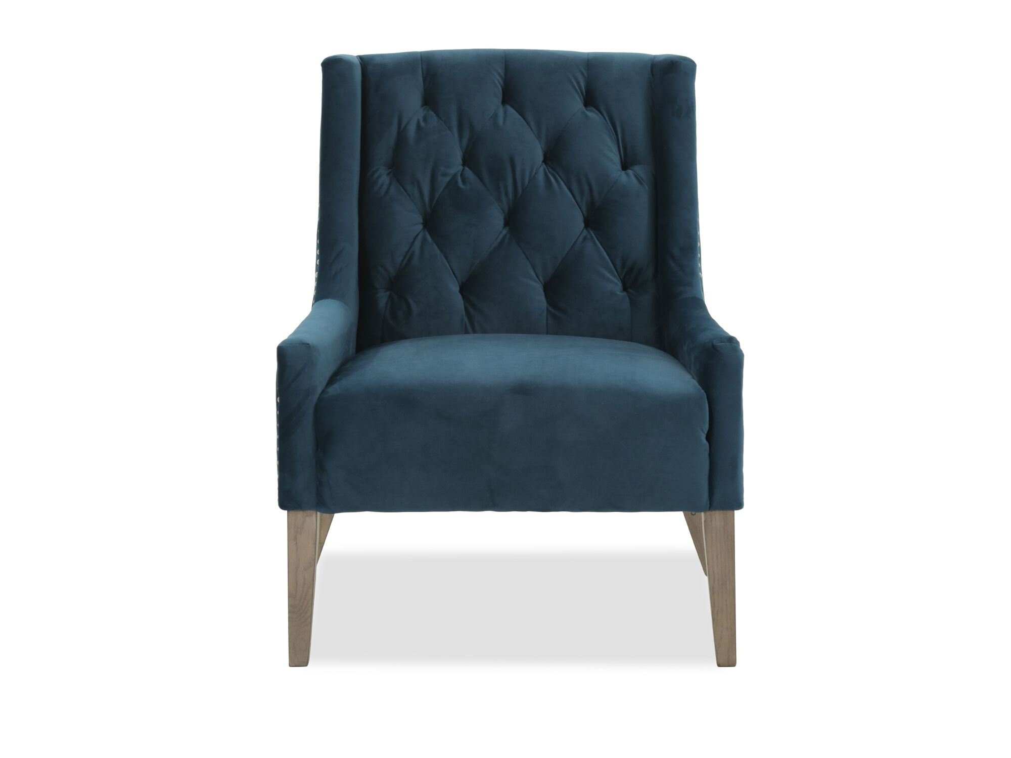 Velvet Blue Accent Chair