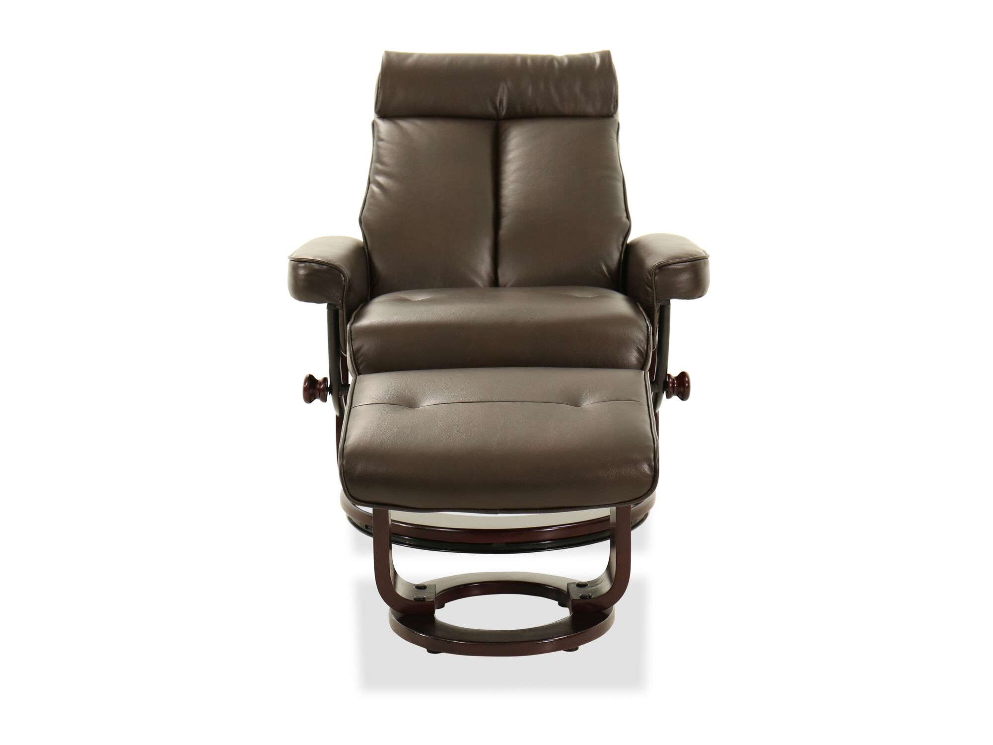 leather recliner chair and ottoman in