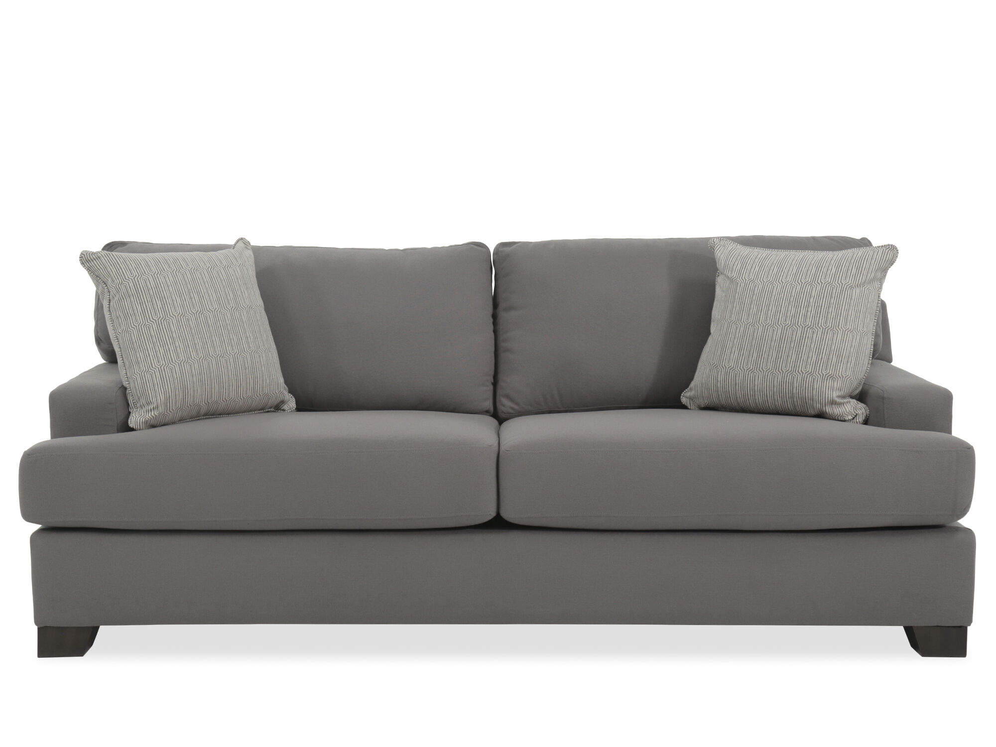 Transitional 87 Sofa In Gray Mathis Brothers Furniture