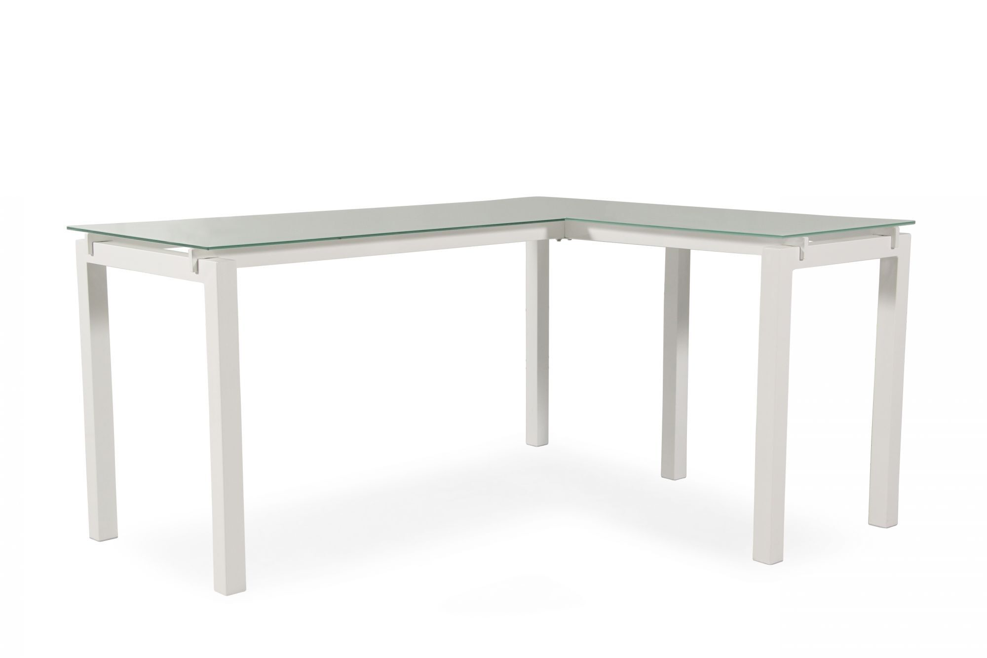 61 Contemporary L Shaped Desk In White Mathis Brothers