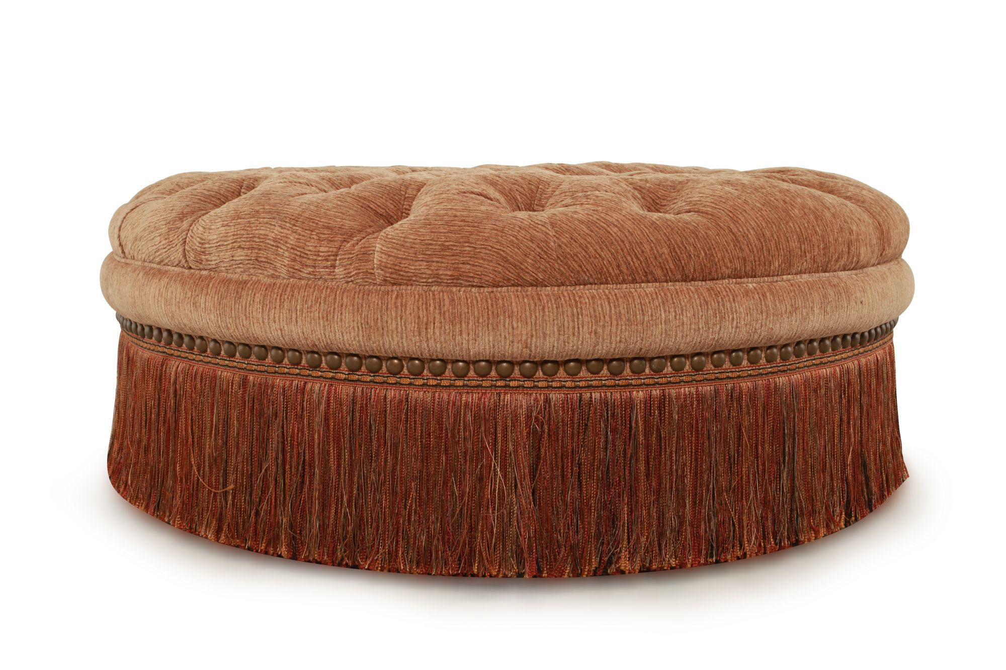 button tufted traditional 42 ottoman