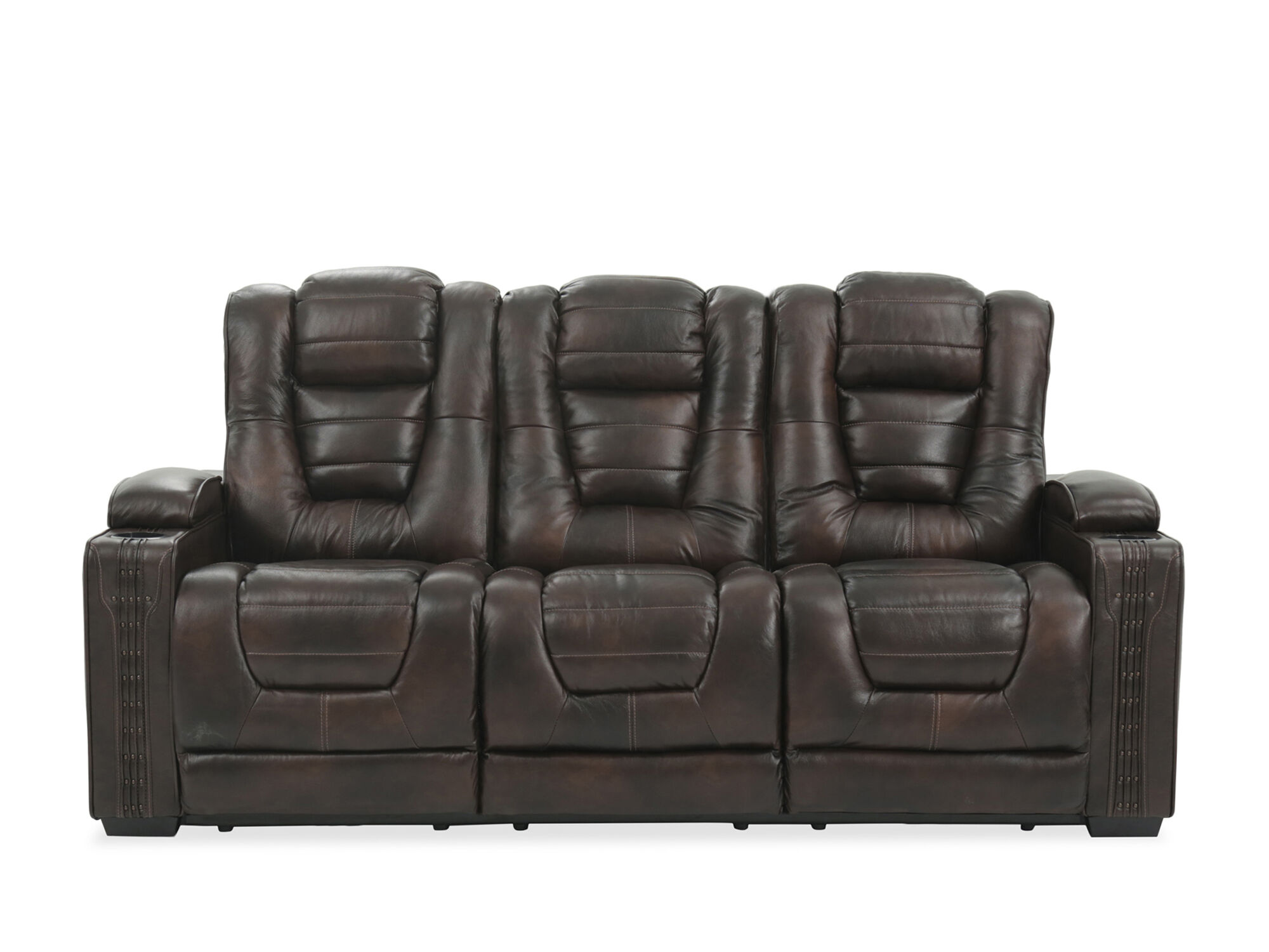 leather 84 power reclining sofa with