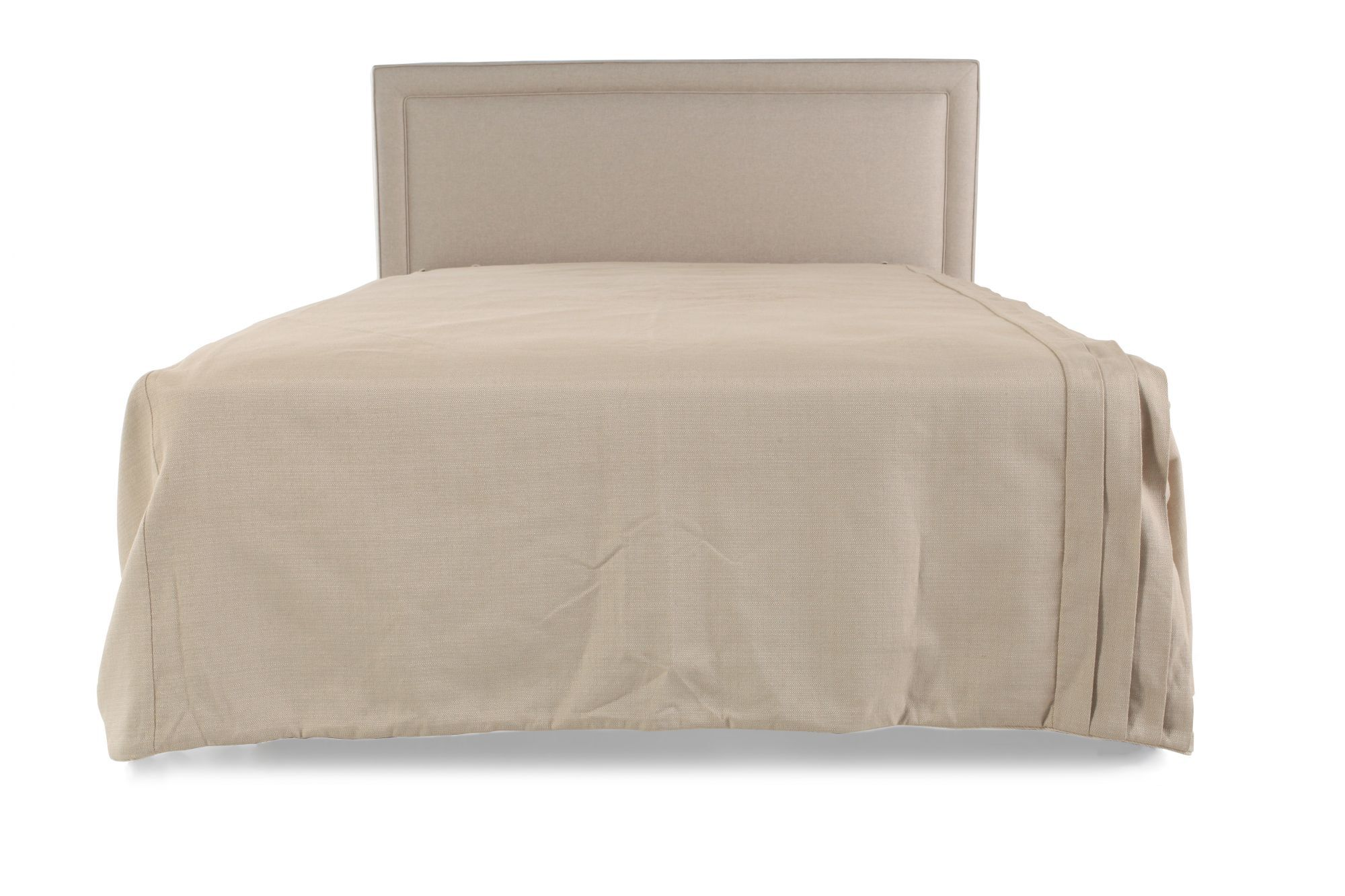 Headboards   Bed Headboards   Mathis Brothers Contemporary 49 quot  Queen Headboard in Light