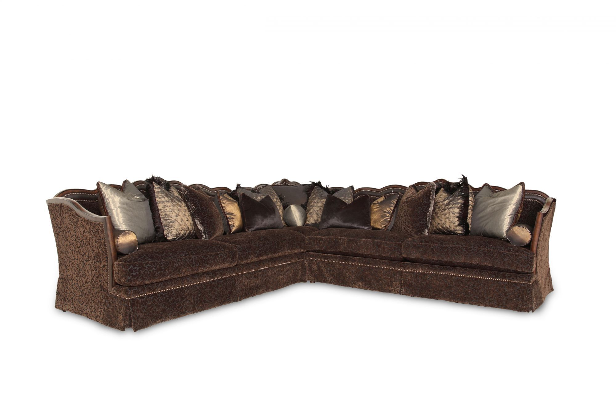 Three Piece Traditional 215 Leaf Patterned Sectional In