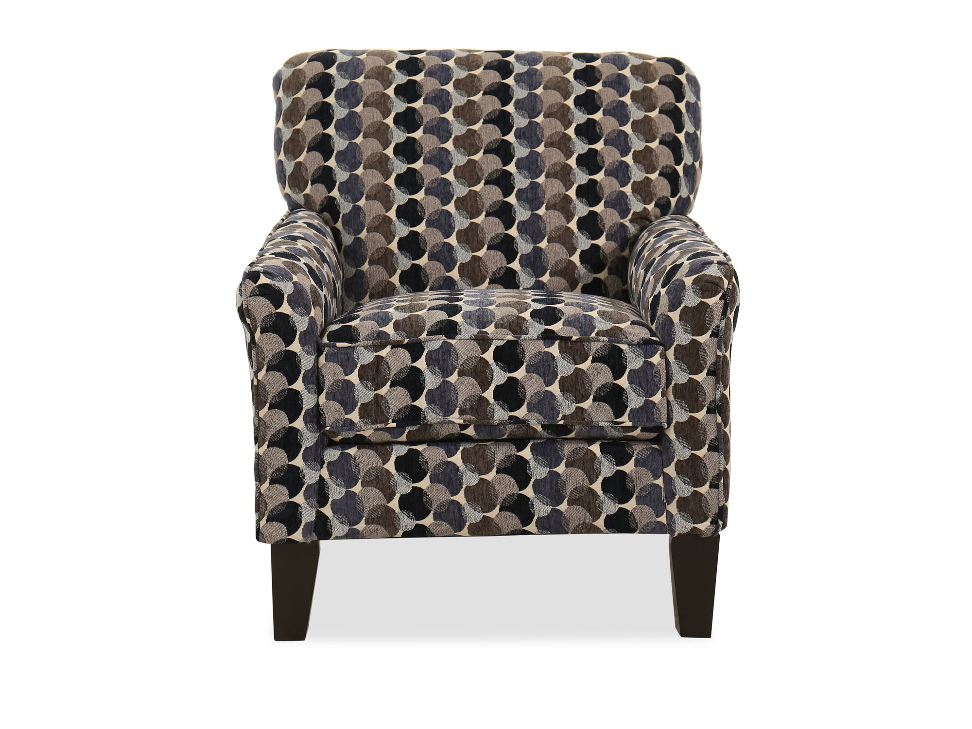 30 Bubble Patterned Transitional Accent Chair In Multi Mathis Brothers Furniture