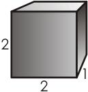 2 x 2 x 1 Prism