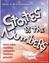 Make It Real Learning States by the Numbers workbook bundle