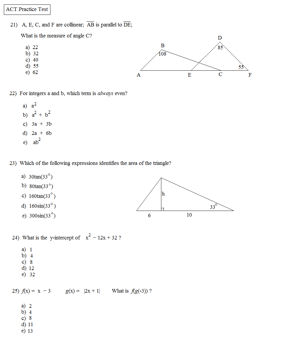 Worksheet Act Math Worksheets Grass Fedjp Worksheet Study Site
