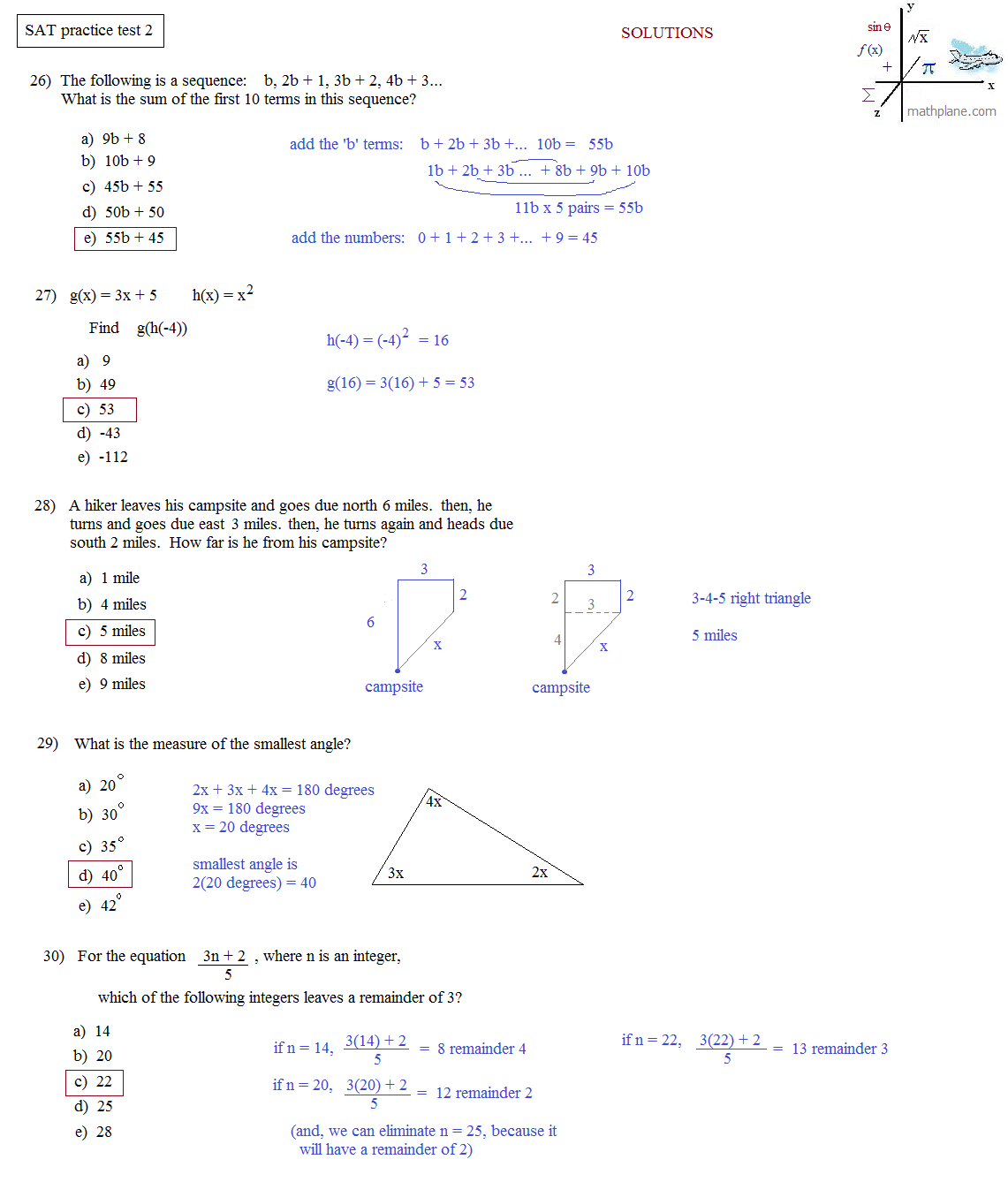 Sat Math Practice Test Free Download