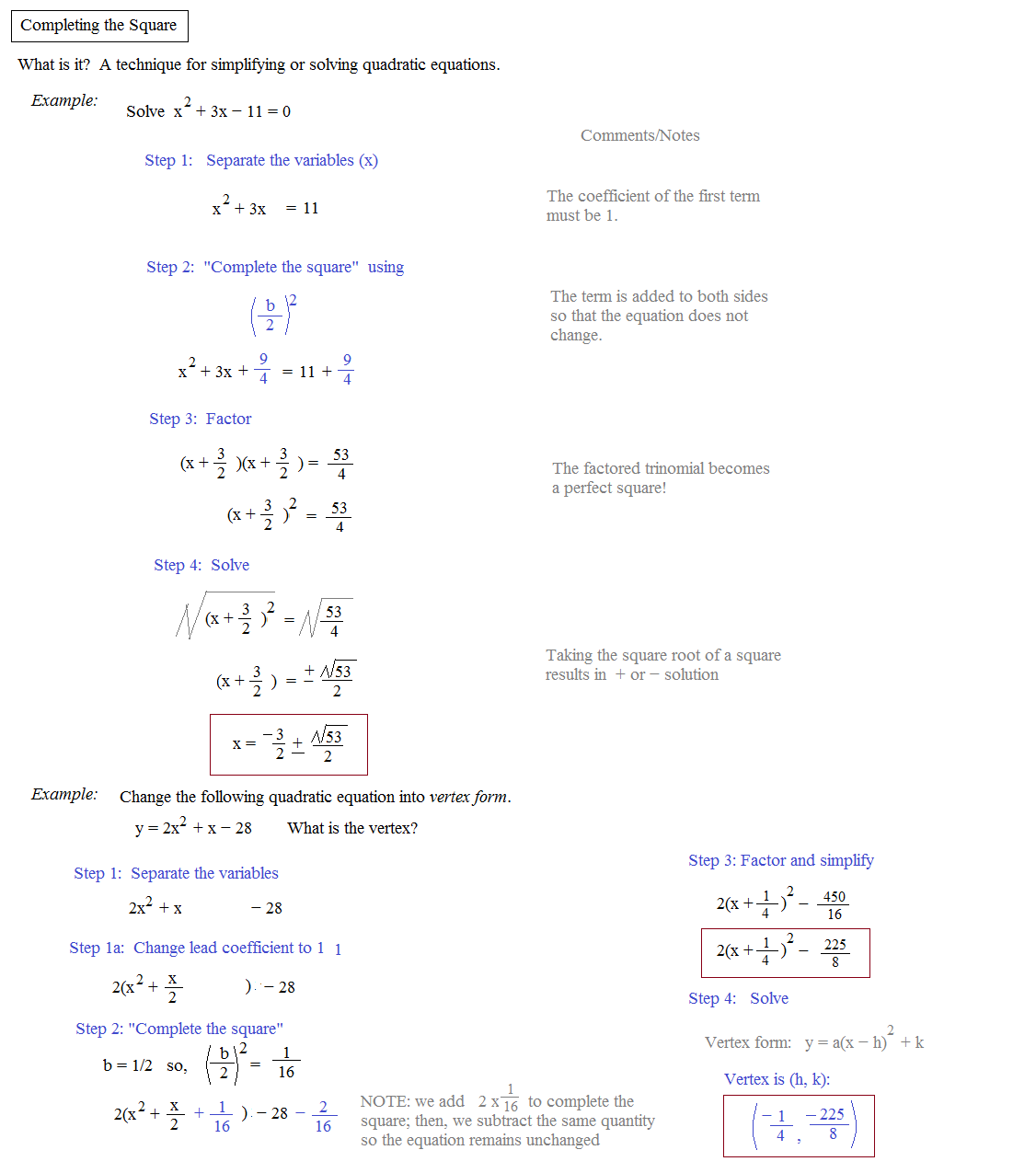 30 Solve By Completing The Square Worksheet