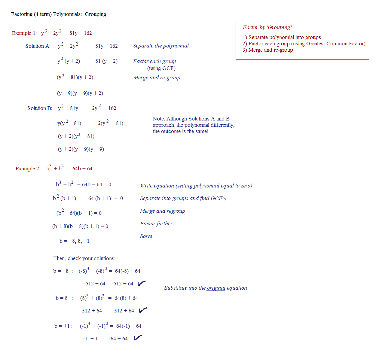 Printables Factoring Trinomials A 1 Worksheet Answers