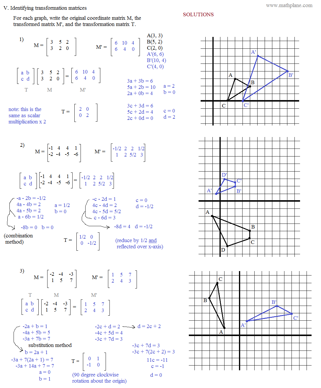 Matrix Addition Worksheet