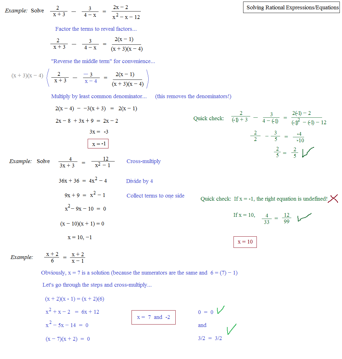 Unit 10 Test Study Guide Rational Expressions And