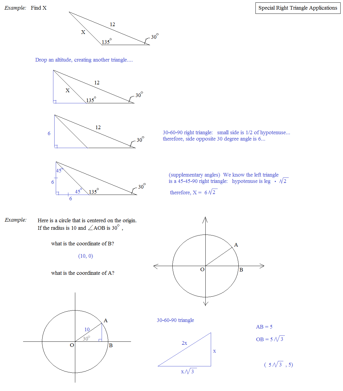 Worksheet Special Right Triangles 30 60 90 Worksheet