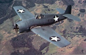 Figure 1: F6F Hellcat, fighter that dominated US carrier sorties in the later part of the Pacific War.